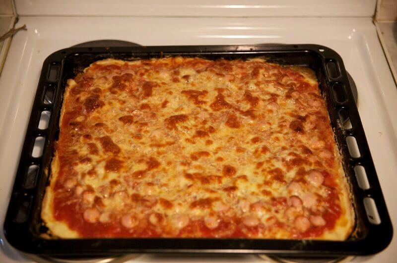 Вкусное и быстрое бездрожжевое тесто для пиццы