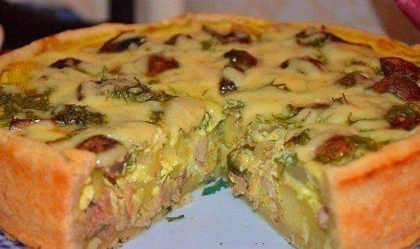 Пирог с курицей и картошкой пошаговый рецепт