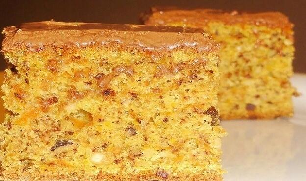 Вкусный тыквенный пирог с орехами и цедрой апельсина