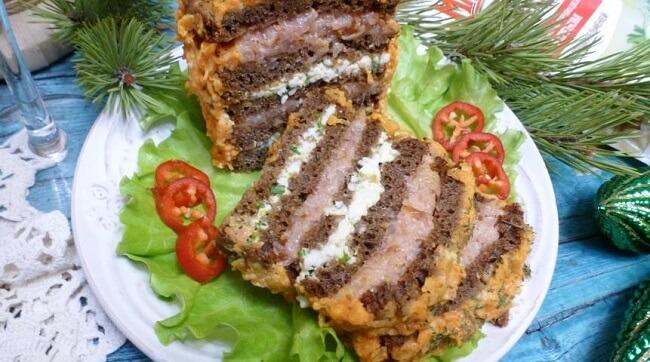 Закусочный торт «Праздничный Бутерброд»
