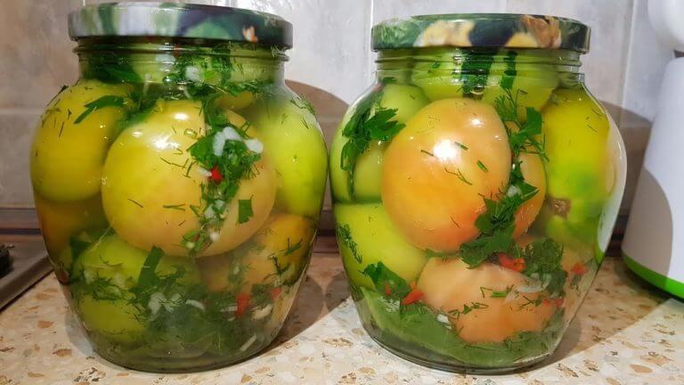 Зеленые помидоры по-кавказски на зиму