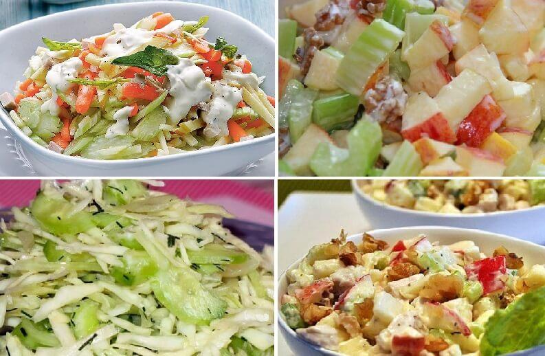 Простые и вкусные салаты с сельдереем и яблоками