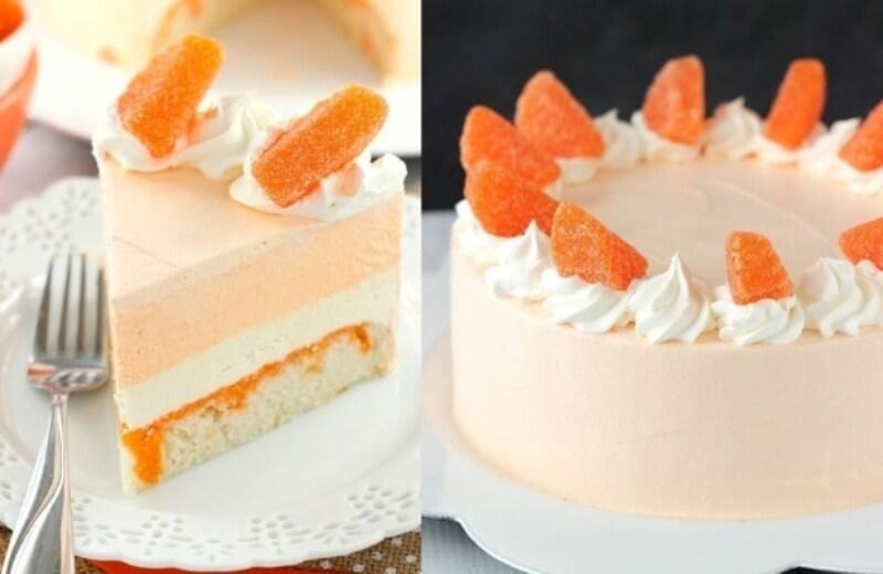 Апельсиновый торт-мороженое