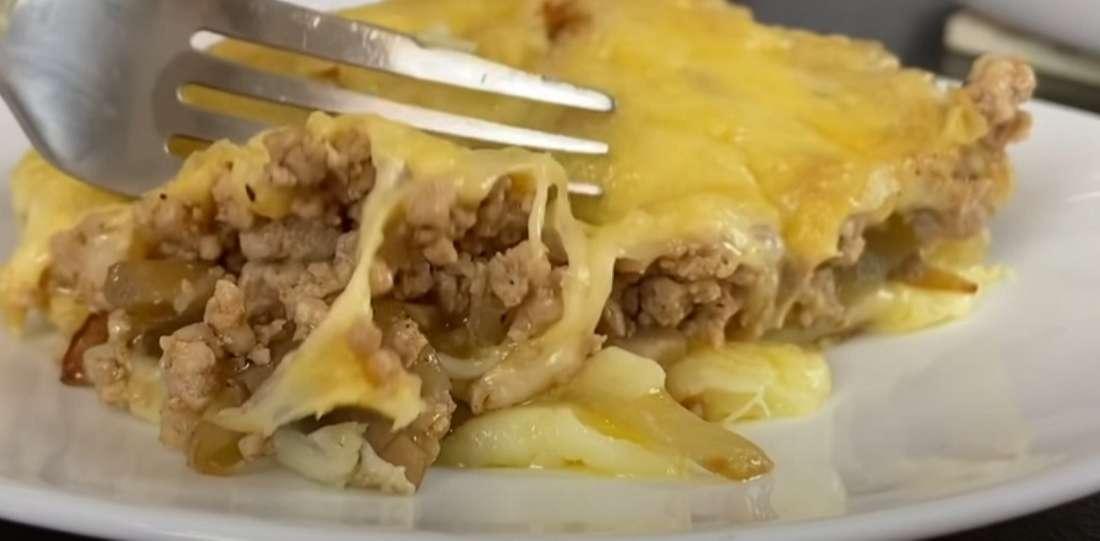 Аппетитная запеканка с грибами и сыром