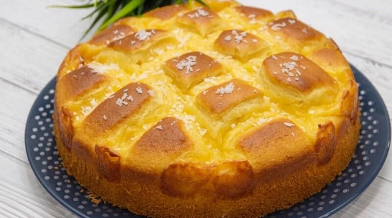 Аппетитный и нежный пирог с кремом