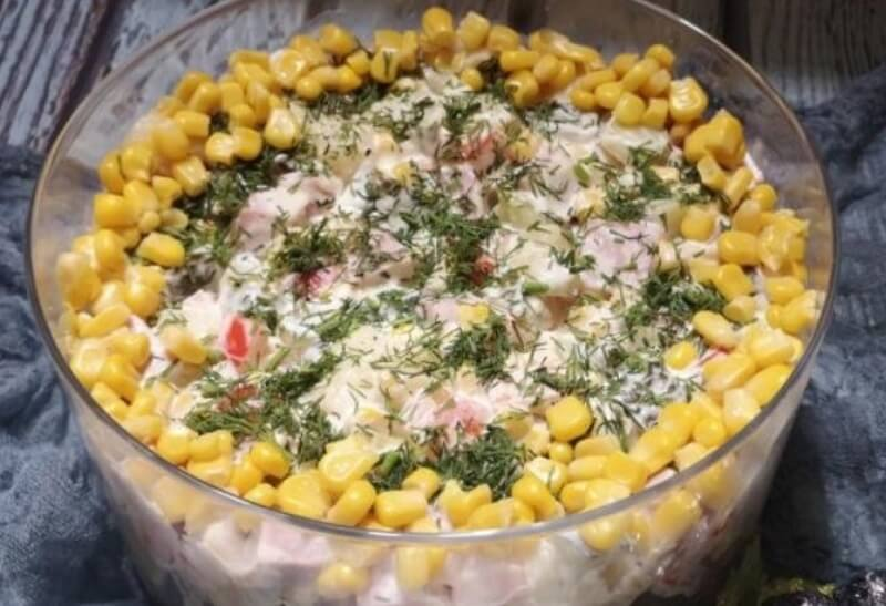 Аппетитный салат «Эйфория»