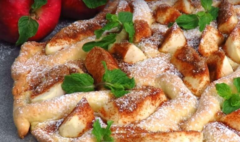 Бесподобный пирог «Яблочная волна»