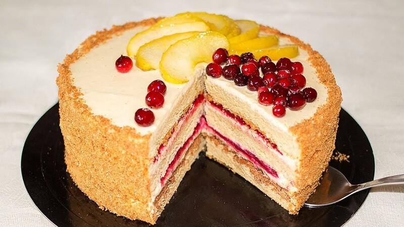 Бисквитный торт «Райское наслаждение»