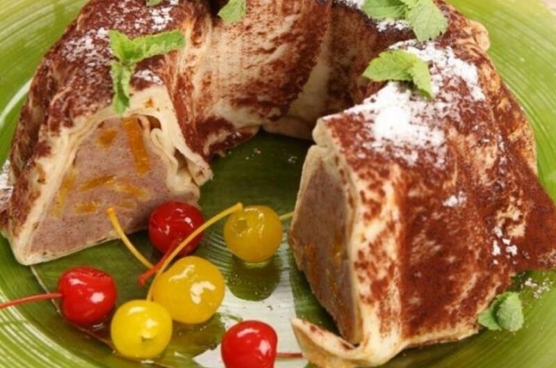 Блинный торт «Ореховое кольцо»
