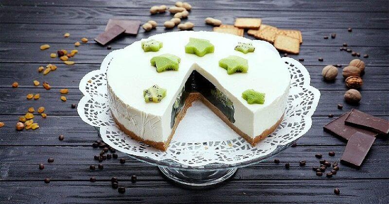 Божественный желейный торт с киви