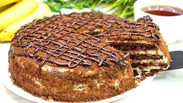 Быстрый шоколадный медовый торт
