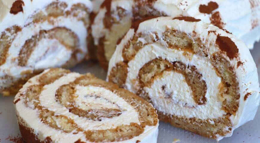 Десерт тирамису без яиц и выпечки