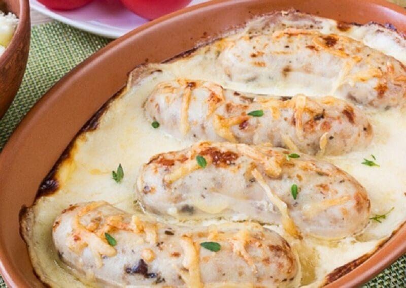 Домашние колбаски из куриного филе