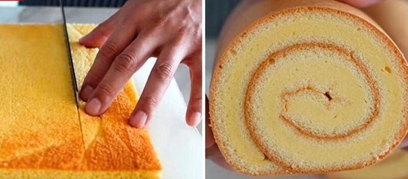 Идеальный рецепт бисквитного рулета