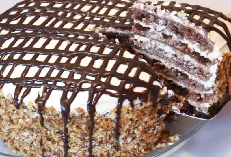 Изумительно вкусный и нежный торт на сковороде