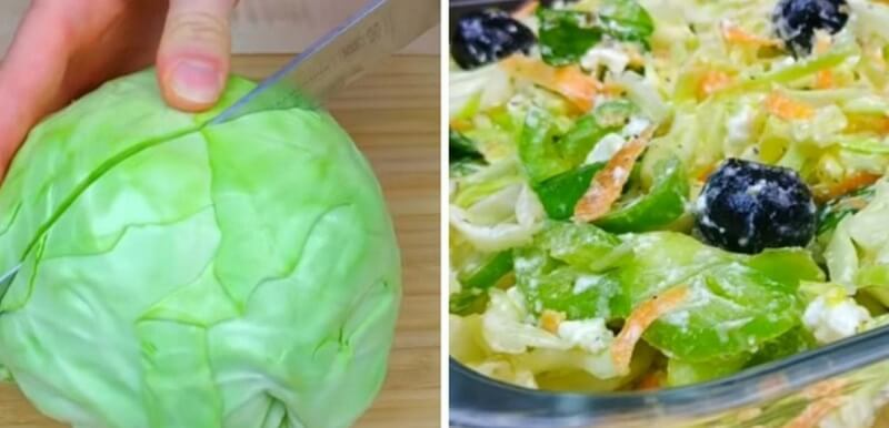 Изумительно вкусный салат с рукколой и капустой в медовой заправке