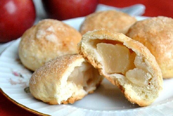 Яблочное хрустящее печенье