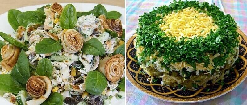 Яркие и новые рецепты праздничных салатов