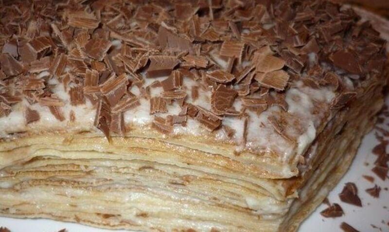 Как приготовить нежный блинный тортик с кремом