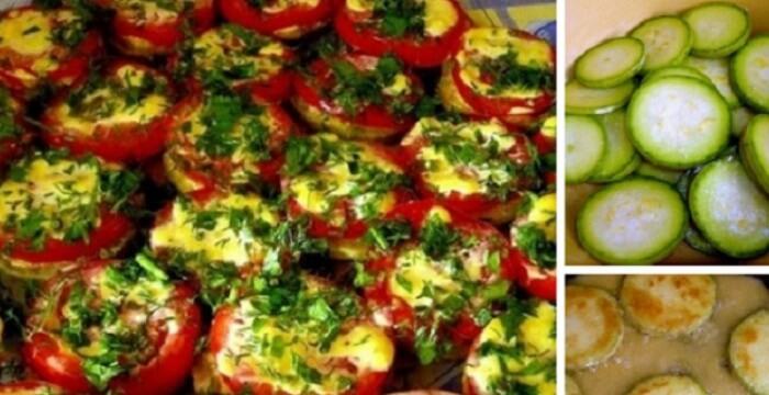 Как приготовить острую закуску из кабачков и помидоров