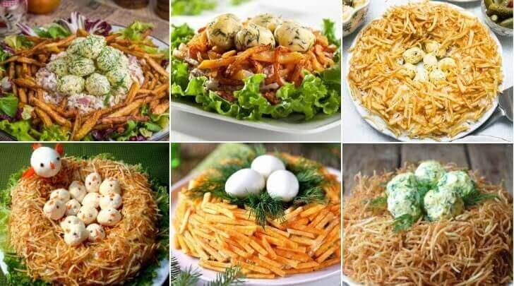 Как приготовить салат «Гнездо глухаря»