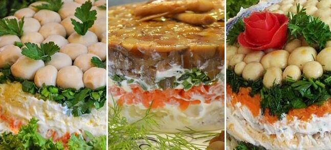 Как приготовить салат «Грибная поляна»: ТОП-5 рецептов к новогоднему столу 2020 года