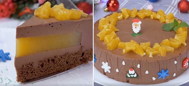 Как приготовить шоколадно-апельсиновый муссовый торт