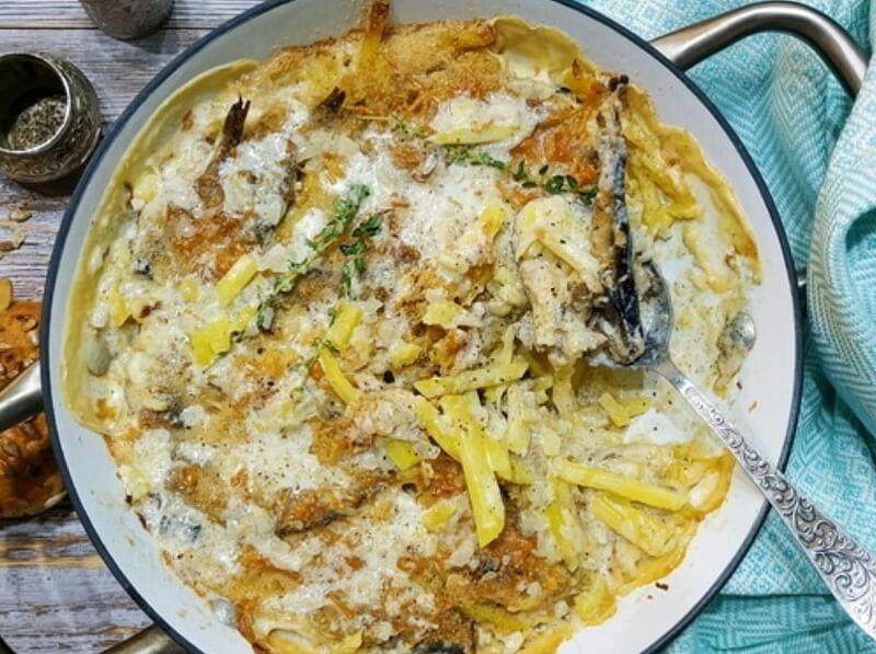 Картофельный гратен со шпротами
