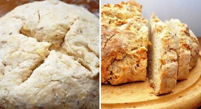 Хлеб на кефире без дрожжей