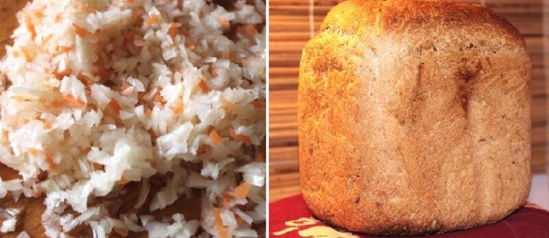 Хлеб с квашеной капустой в хлебопечке