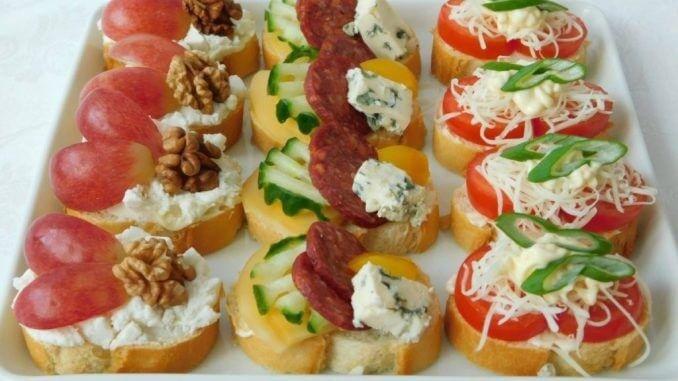 Красивые и вкусные бутерброды на праздничный стол