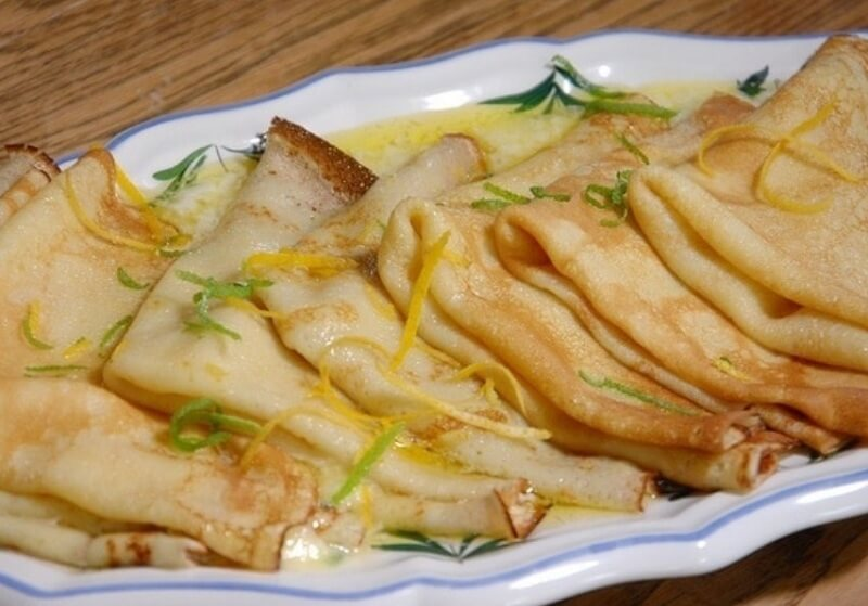 Крепы с кремом «Лимончелло»