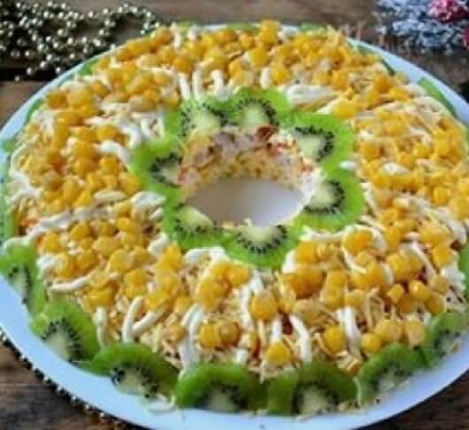 Куриный салат с идеальным сочетанием ингредиентов