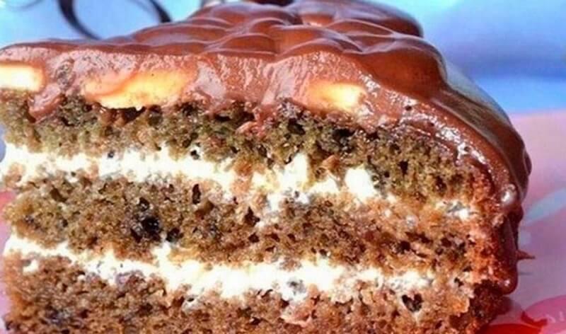 Лёгкий рецепт быстрого приготовления торта на кефире