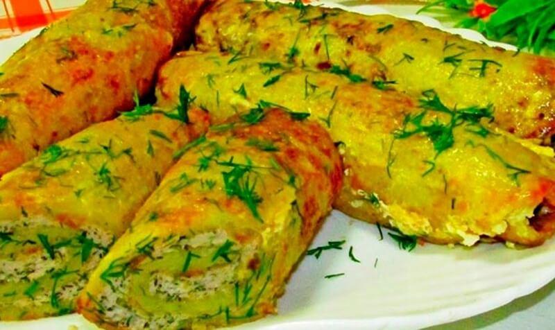 Мягкие и нежные картофельные блины с мясом