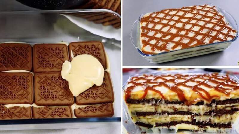 Мягкий и быстрый торт без выпечки