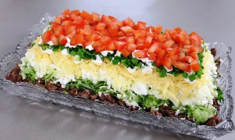 Мясной салат «Браво»