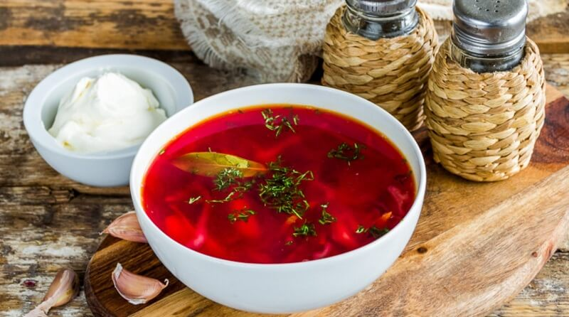 Наваристый насыщенно-красный борщ без томатной пасты