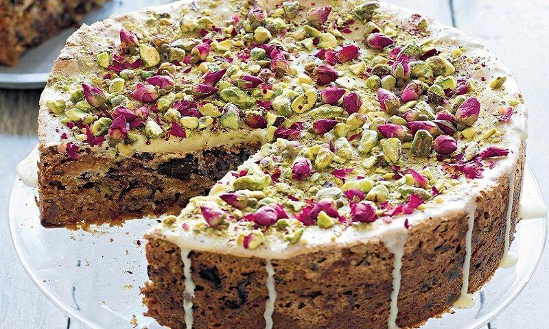 Необычайно красивый и идеальный торт с халвой и миндалём!