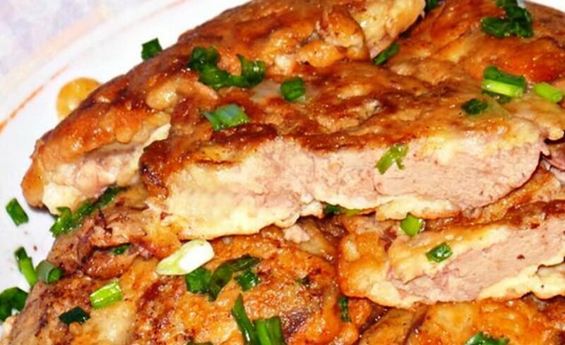 Нежнейшая куриная печень в сметанно-чесночном соусе