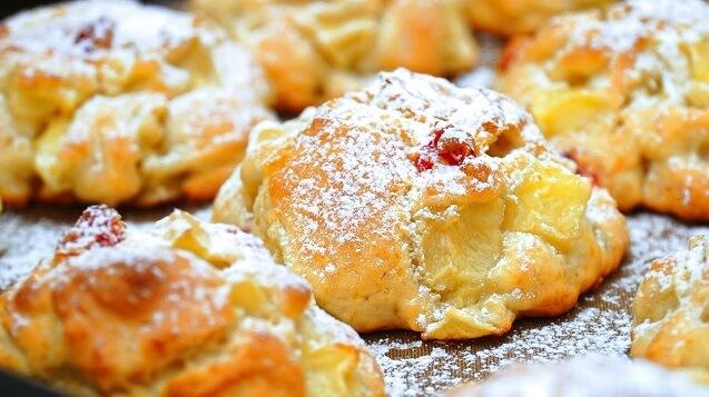 Нежное яблочное печенье