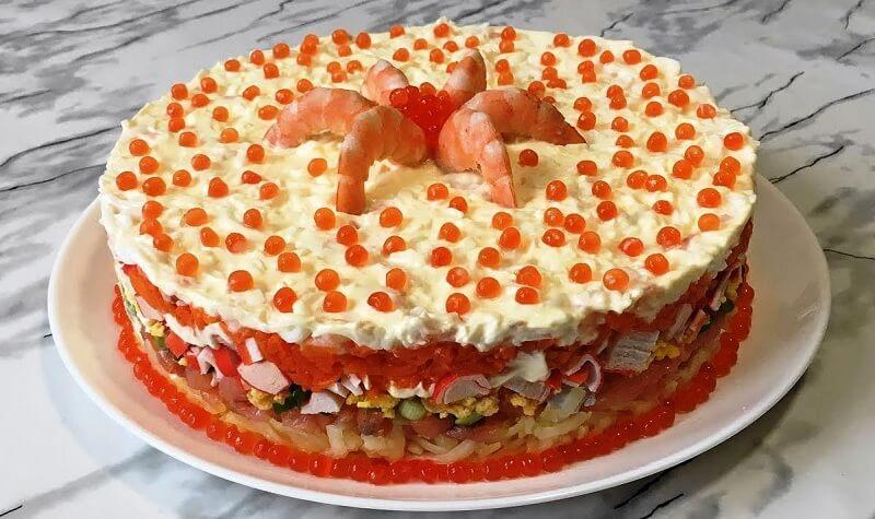 Новогодний салат «Царская шуба»