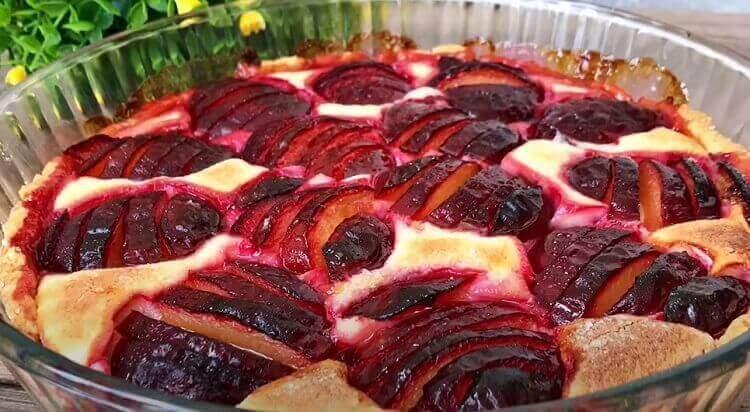 Очень вкусный пирог со сливами