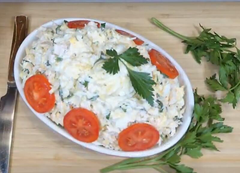 Очень вкусный салат из редьки с курицей