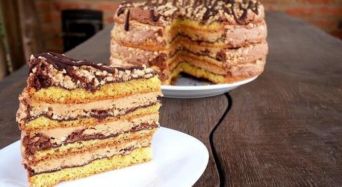 Очень вкусный торт Белочка