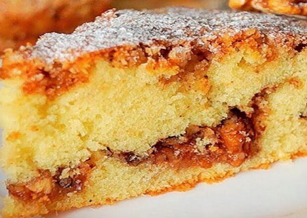 Оригинальный пирог с орехами в несложном исполнении