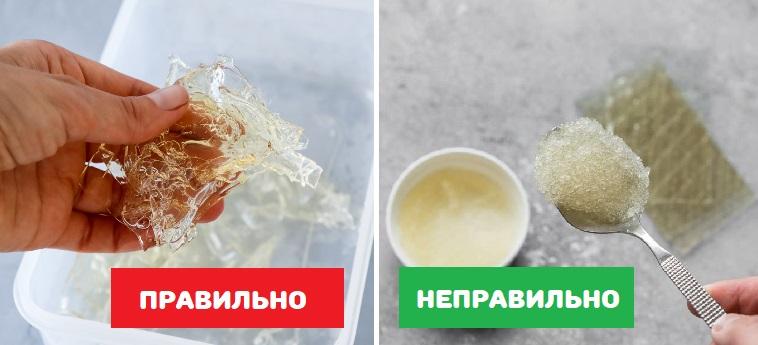 Все что нужно знать о листовом и порошковом желатине