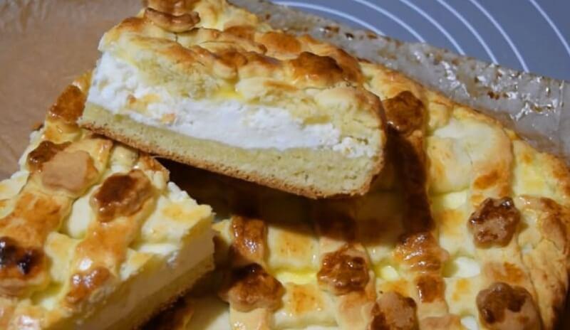 Отличный рецепт нежного творожного пирога