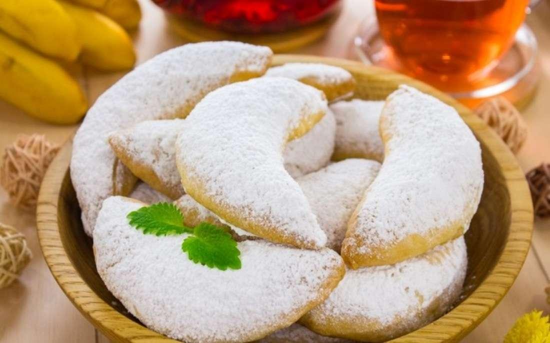 Печенье «Банановые рогалики»