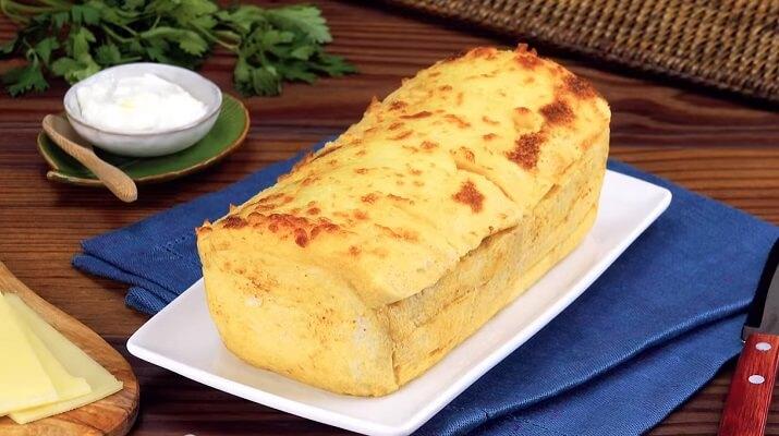 Пирог из хлеба на скорую руку
